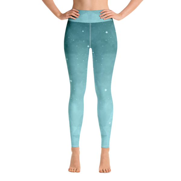 Avocadista Yoga Teal Dawn Leggings Pants Active Wear Pilates
