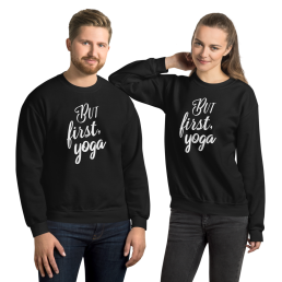 Avocadista But First Yoga Sweatshirt Pullover