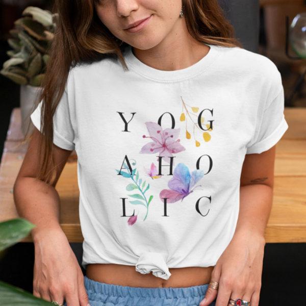 Avocadista Yogaholic Floral Yoga T-Shirt