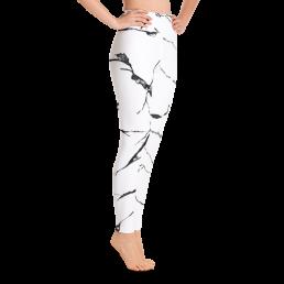 Avocadista White Marble Yoga Leggings Pants Active Wear Pilates