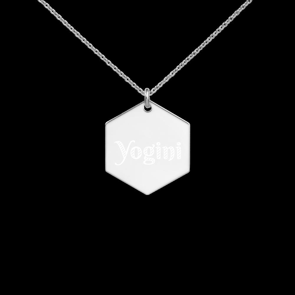 Avocadista Yogini Hexagon Engraved Necklace Yoga Jewelry Schmuck Kette Necklace
