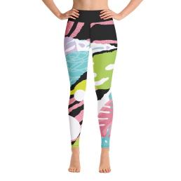 Avocadista Pop Art Yoga Leggings Pants Active Wear Pilates