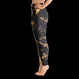 Avocadista Golden Marble Yoga Leggings Pants Active Wear Pilates
