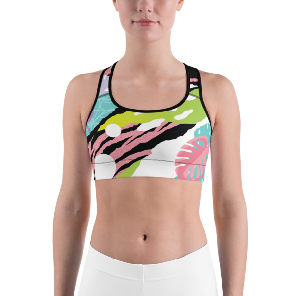 Avocadista Pop Art Yoga Sports Bra Active Wear Pilates
