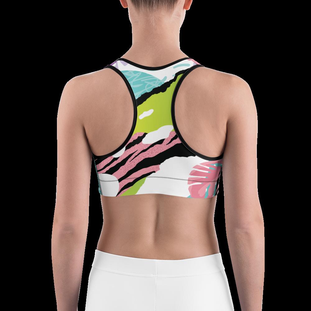 Avocadista Pop Art Yoga Sports Bra Active Wear Pilates