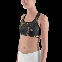 Avocadista Golden Marble Yoga Sports Bra Active Wear Pilates