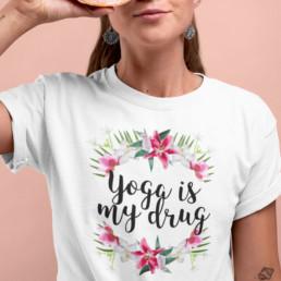 Avocadista Yoga Is My Drug T-Shirt