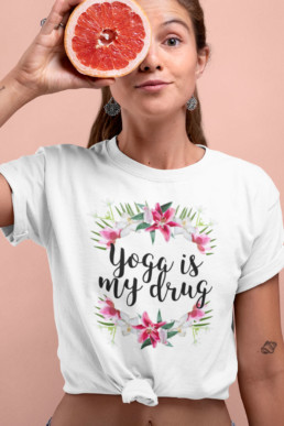 Avocadista Yoga Is My Drug T-Shirt