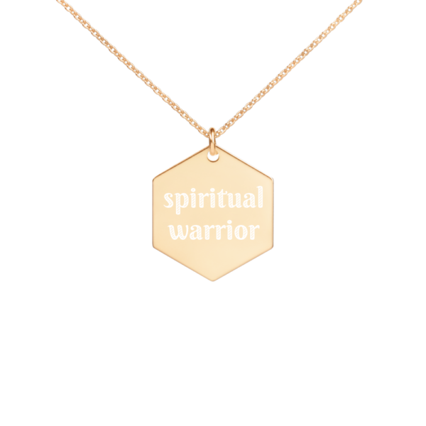 Avocadista spiritual warrior Hexagon Engraved Necklace Yoga Jewelry Kette Schmuck