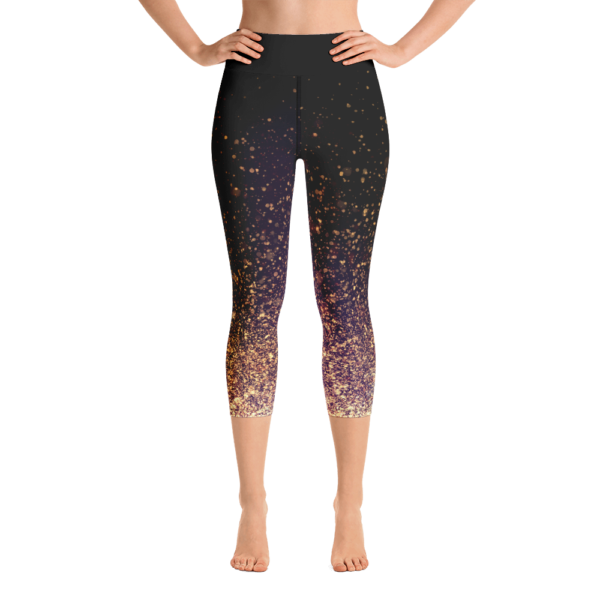 Avocadista Gold Dust Yoga Capri Leggings Pants