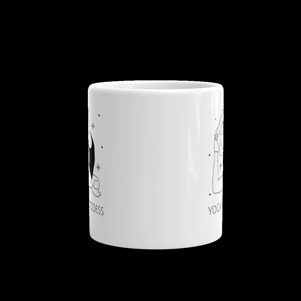 Yoga Goddess glossy mug