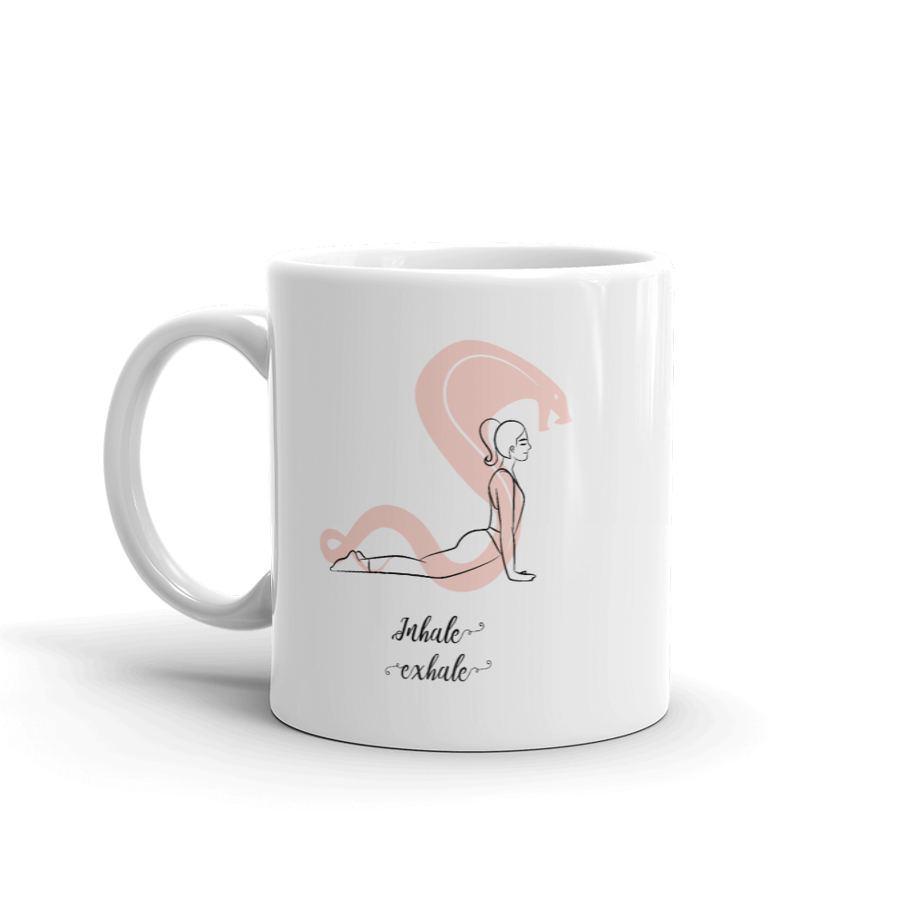 Inhale Exhale Yoga glossy Mug