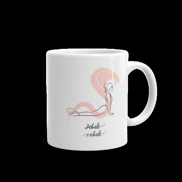 Inhale Exhale Yoga glossy Mug
