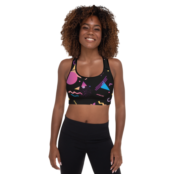 Avocadista 90ies black yoga sports bra active wear Pilates