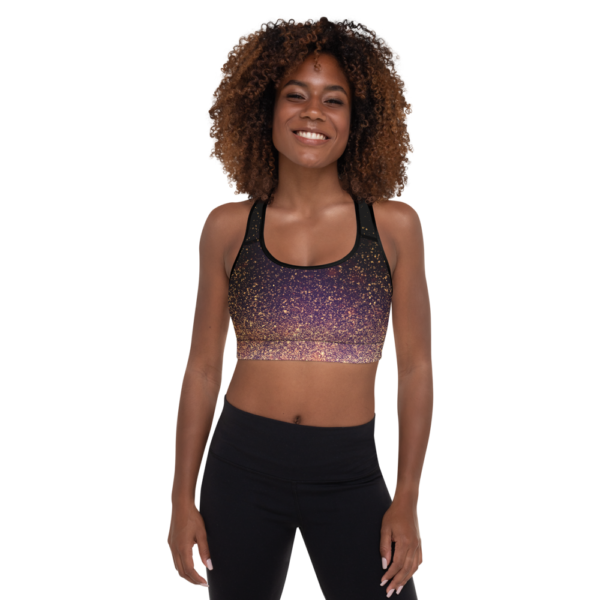 Avocadista Gold Dust Yoga Sports Bra Active Wear Pilates