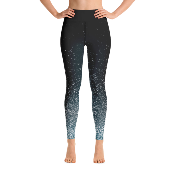 White Dust Yoga Leggings Pants Active Wear Pilates