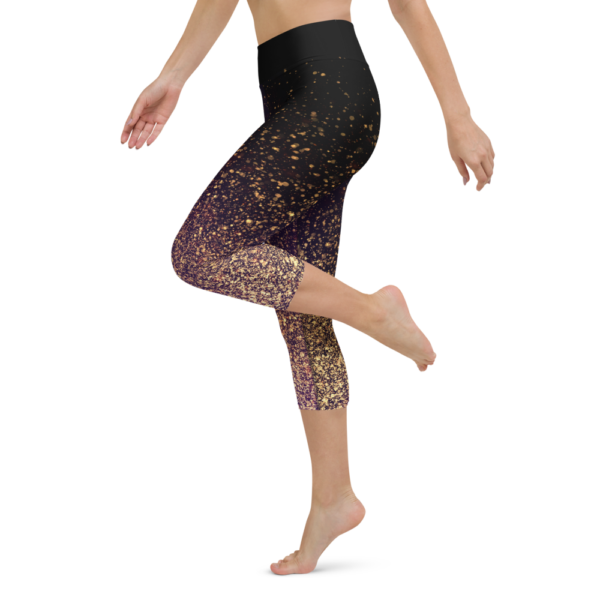 Gold Dust Yoga Capri Leggings Pants