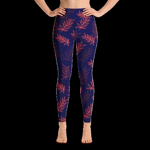 Palm Leaf Yoga Leggings Pants active Wear Pilates