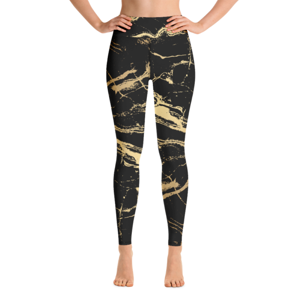 Avocadista Golden Marble Yoga Leggings Pants Active Wear Pilates