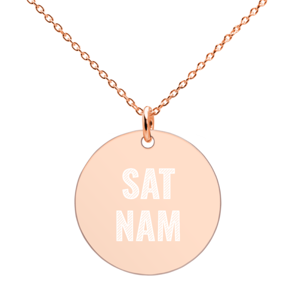 Sat Nam Silver Disc Chain Necklace 18k rose gold