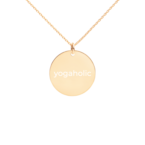 Yogaholic Silver Disc Chain Necklace 24k gold
